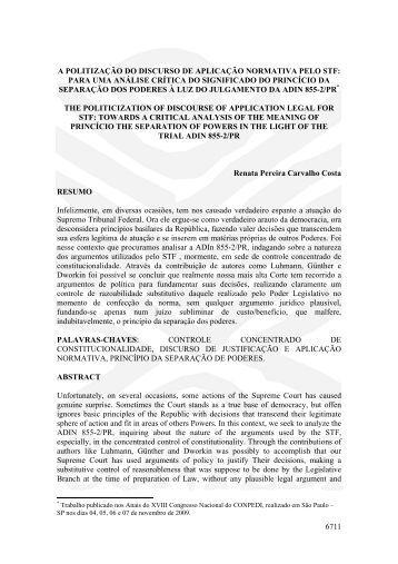 6711 a politização do discurso de aplicação ... - publicaDireito