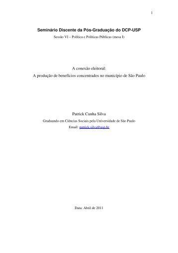 A conexão eleitoral - fflch - USP