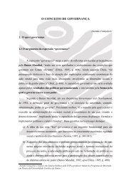 O CONCEITO DE GOVERNANÇA - Canal dos Concursos