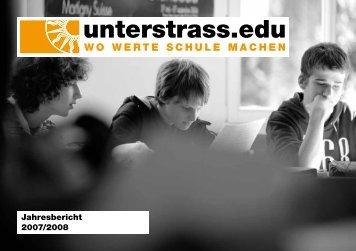 Jahresbericht 2007/2008 - Unterstrass.edu