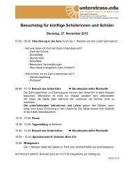 Stundenplan - Unterstrass.edu