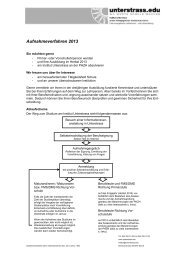 Aufnahmeverfahren 2013 Interessentinnen - Unterstrass.edu