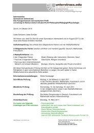 Interessenten Gymnasium Unterstrass Das ... - Unterstrass.edu