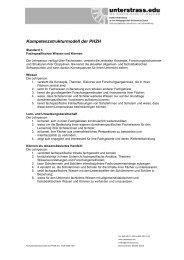 2.3.3 Kompetenzstrukturmodell der PHZH - Unterstrass.edu