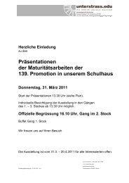 Präsentationen der Maturitätsarbeiten der 139 ... - Unterstrass.edu