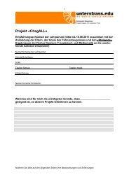 Projekt «ChagALL» - Unterstrass.edu