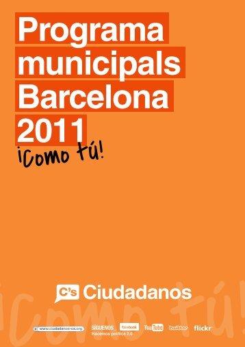 Programa Municipales Barcelona 2011 - Ciudadanos