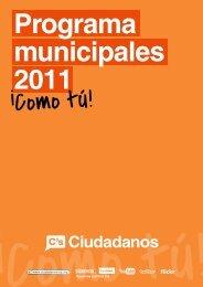 Programa Municipales 2011 - Ciudadanos