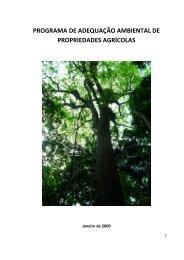 programa de adequação ambiental de propriedades agrícolas - Seag