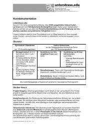 Kurzdokumentation - Unterstrass.edu