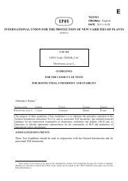 E - International Union for the Protection of New Varieties of Plants