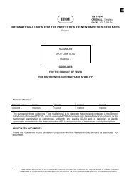 guidelines for the conduct of tests for distinctness, homogeneity and ...