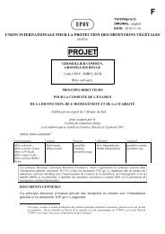projet - International Union for the Protection of New Varieties of Plants