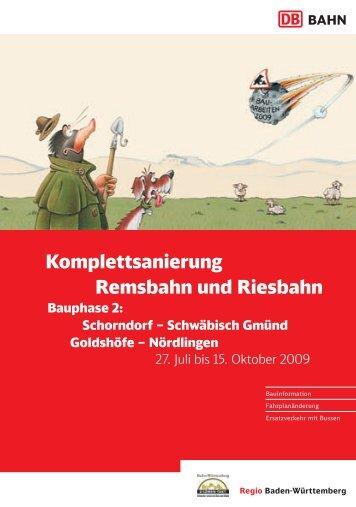 Schorndorf - Schwäbisch Gmünd / Goldshöfe - OstalbMobil