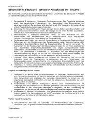 Technischen Ausschusses - Gemeinde Urbach