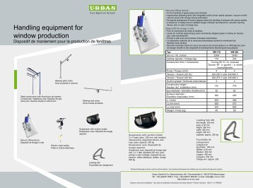 Handling equipment for window production - Urban