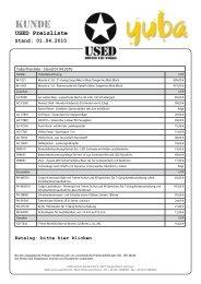 USED Preisliste Stand: 01.04.2010