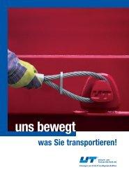Image-Broschüre - UT Umwelt- und Transporttechnik AG