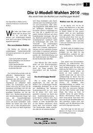 Die U-Modell-Wahlen 2010 - UStA