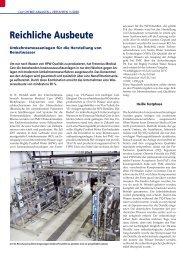 Reichliche Ausbeute - Veolia Water Systems Schweiz AG