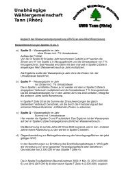 Anleitung Eigenberechnung - UWG Tann (Rhön)