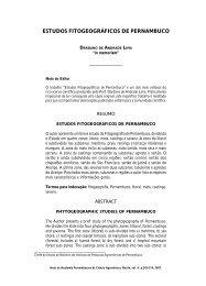 ESTUDOS FITOGEOGRÁFICOS DE PERNAMBUCO - Ainfo
