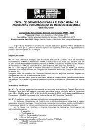 Edital eleicao APMR 2011 - Associação Pernambucana de Médicos ...