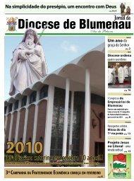 Clique aqui para visualizar ou baixar o Jornal - Diocese de Blumenau