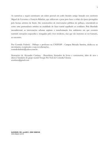 Inspirações Cervantino-Rabelaisianas - Revista Alegrar