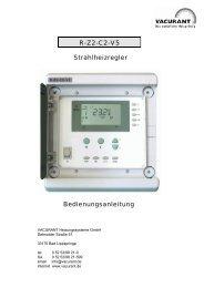 R-Z2-C2-V5 Strahlheizregler Bedienungsanleitung - VACURANT