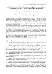 A indústria de confecções em Pernambuco: impactos e ... - Simpep