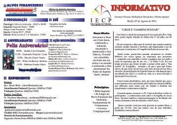 I E C P - Igreja Evangélica Congregacional Pernambucana