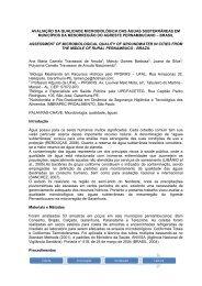 avaliação da qualidade microbiológica das águas ... - SOVERGS
