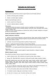 RESUMO DE PORTUGUÊS Substantivos - Concurso Público ...