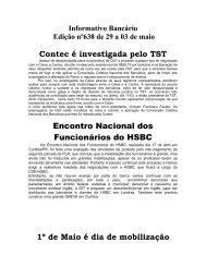 Informativo Bancário - Sindicato dos Bancários de Santos e Região