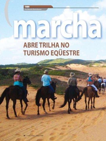 ABRE TRILHA NO TURISMO EQÜESTRE marcha picada - EAMM