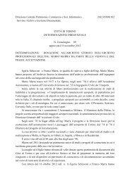 Direzione Centrale Patrimonio, Commercio e Sist ... - Città di Torino