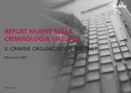 Report McAfee 2007 - Città di Torino