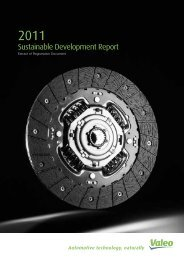 Sustainable Development Report  - Valeo