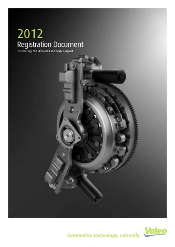 2012 Registration document (PDF 1.97MB) - Valeo