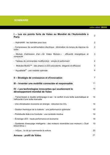 Valeo au mondial de l'automobile 2012 (PDF 283.74kB)