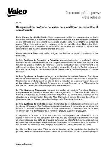 de/from Prnom Nom de l'metteur - Valeo