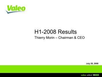 H1-2008 - Valeo