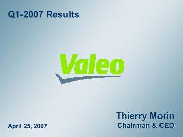 Q1-07 - Valeo