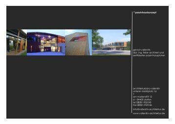 Passivhaus Konzept - architektur vallentin