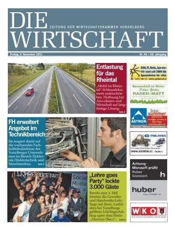 Die Wirtschaft Nr. 44 vom 4. November 2011