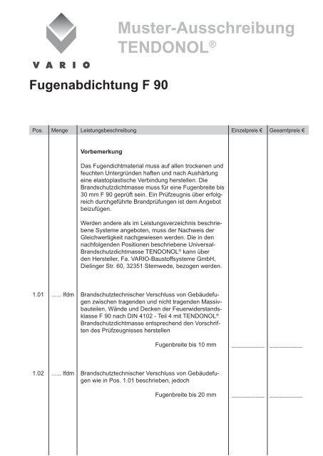 Muster Vergabeformulare Hochbau Pdf Free Download 13
