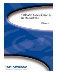 DIGIPASS Authentication for the Microsoft IAS - Vasco