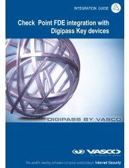 Check Point FDE integration with Digipass Key devices - Vasco