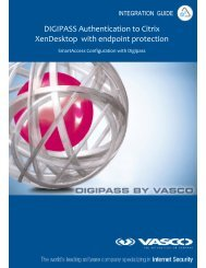 DIGIPASS SSO Authentication for CITRIX SmartAccess end ... - Vasco